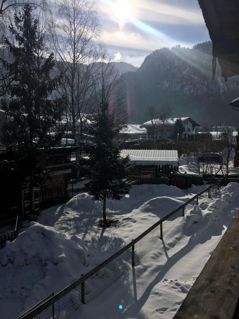 dorp in sneeuw detail
